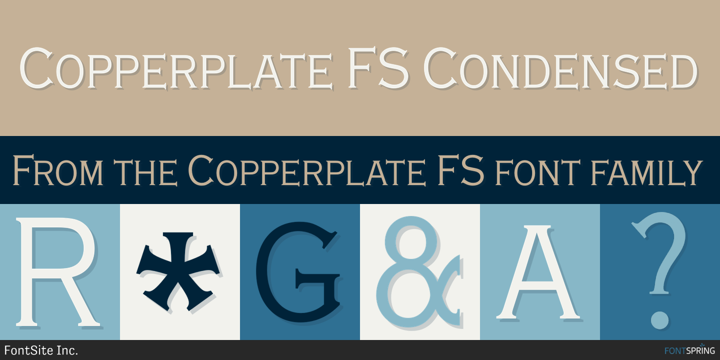 Copperplate Gothic Bold Regular font