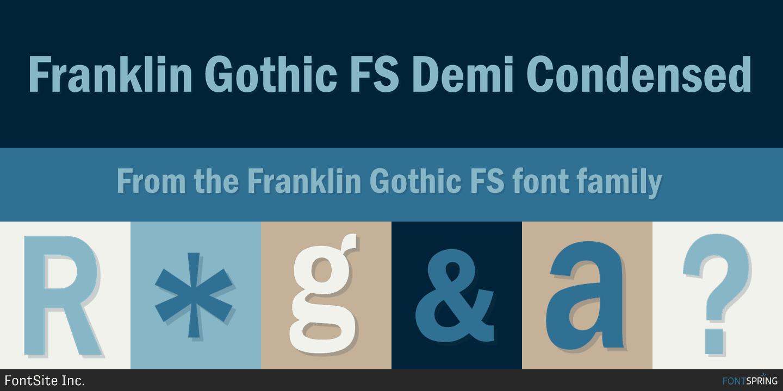 Fontspring | Franklin Gothic FS Fonts by FontSite Inc