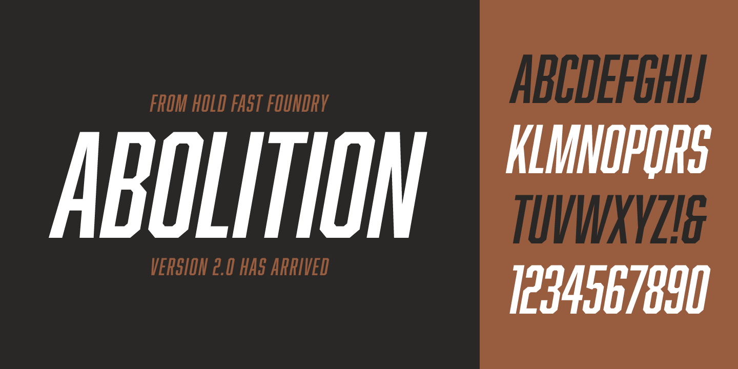 Abolition font family - 1