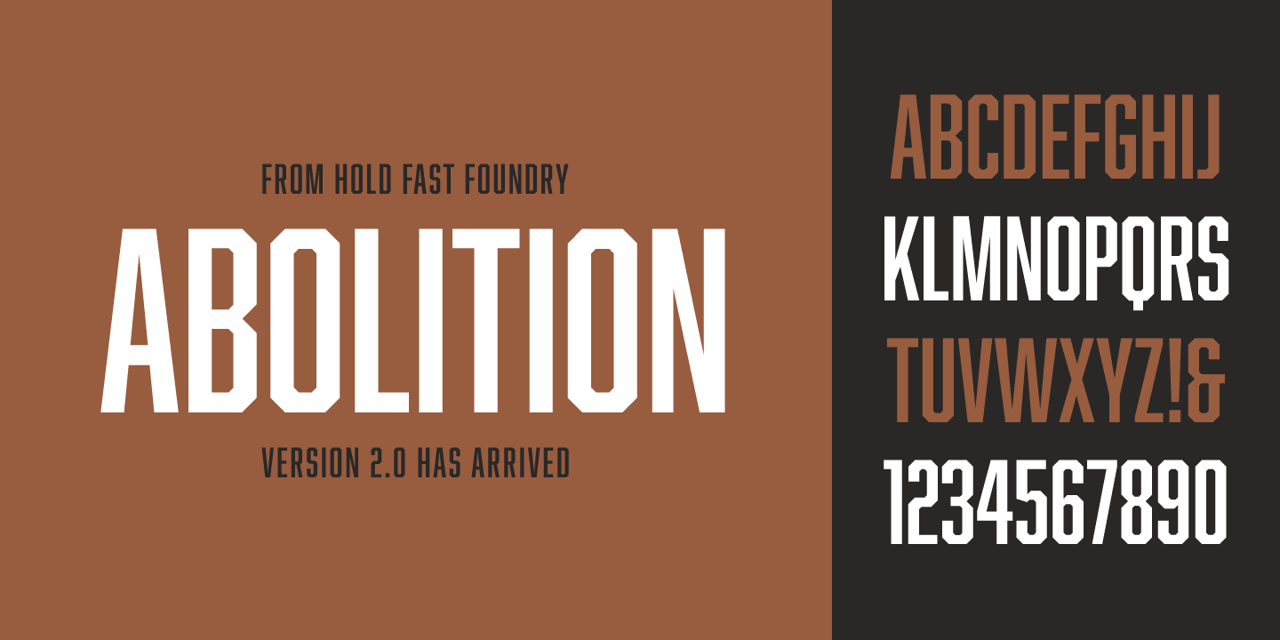 Abolition font family