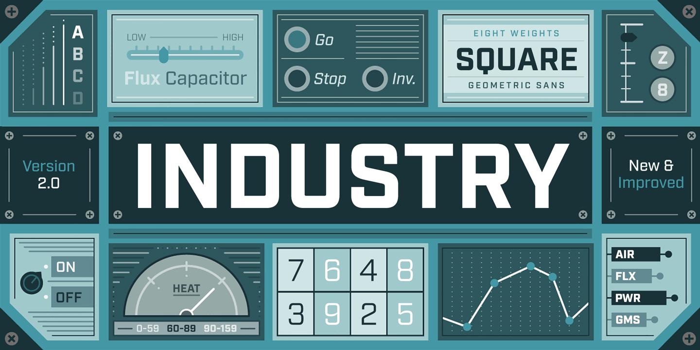 Industry font family