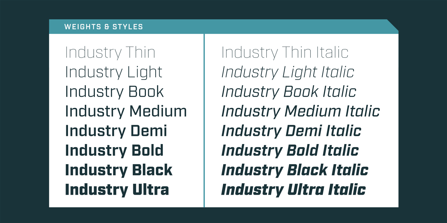 Industry font family - 3