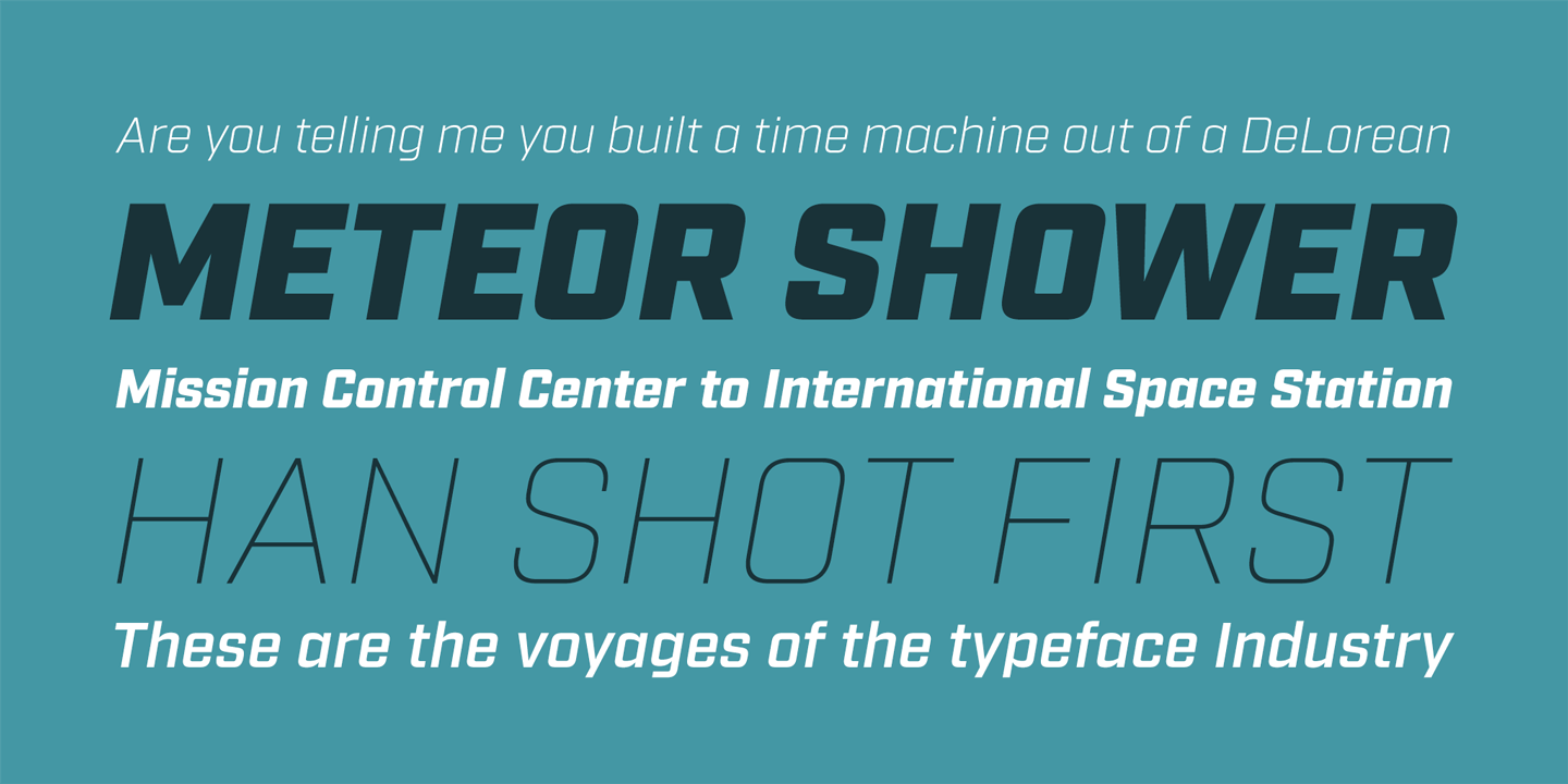 Industry font family - 2
