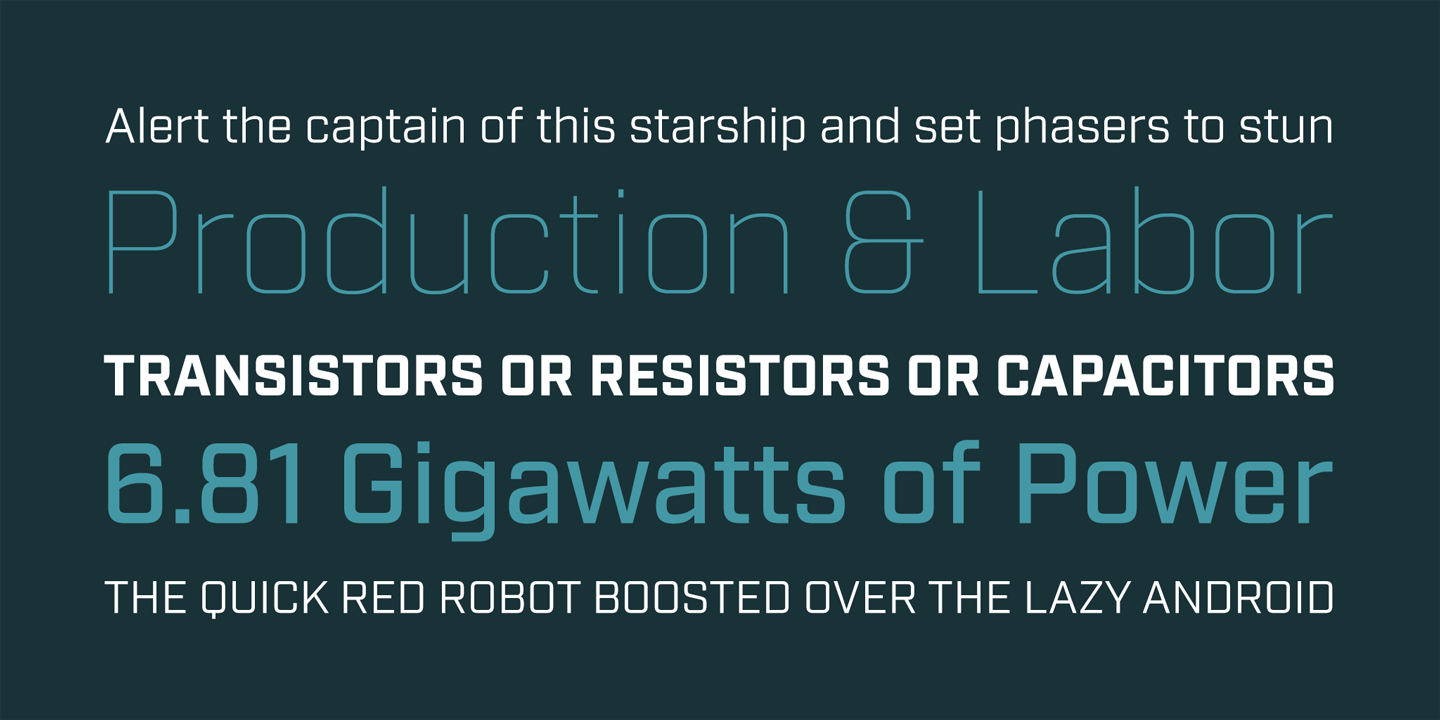 Industry font family - 1