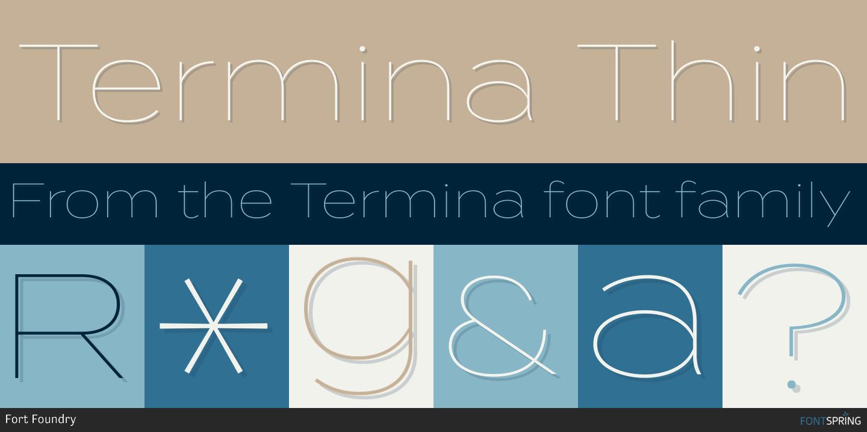 Fontspring | Similar Fonts To Termina