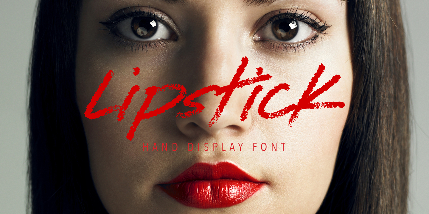 lipstick on the mirror font