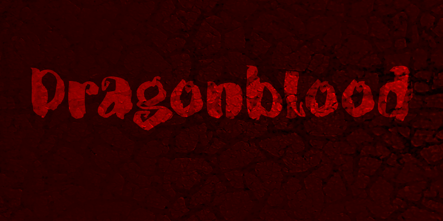 Dragonblood font family