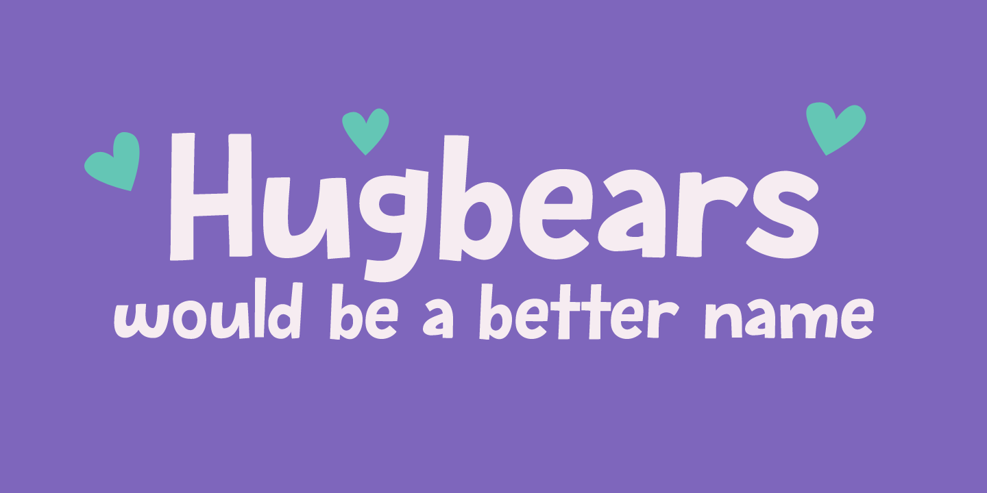 Fontspring   Bugbear Fonts by Hanoded