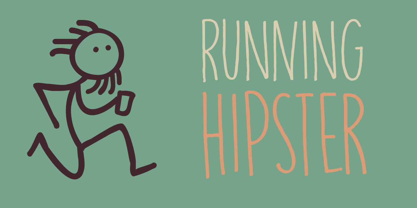 Fontspring Running Hipster Fonts By Hanoded