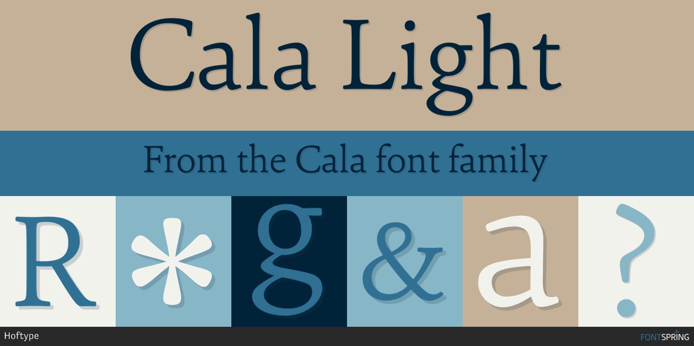 Fontspring | Similar Fonts To Cala