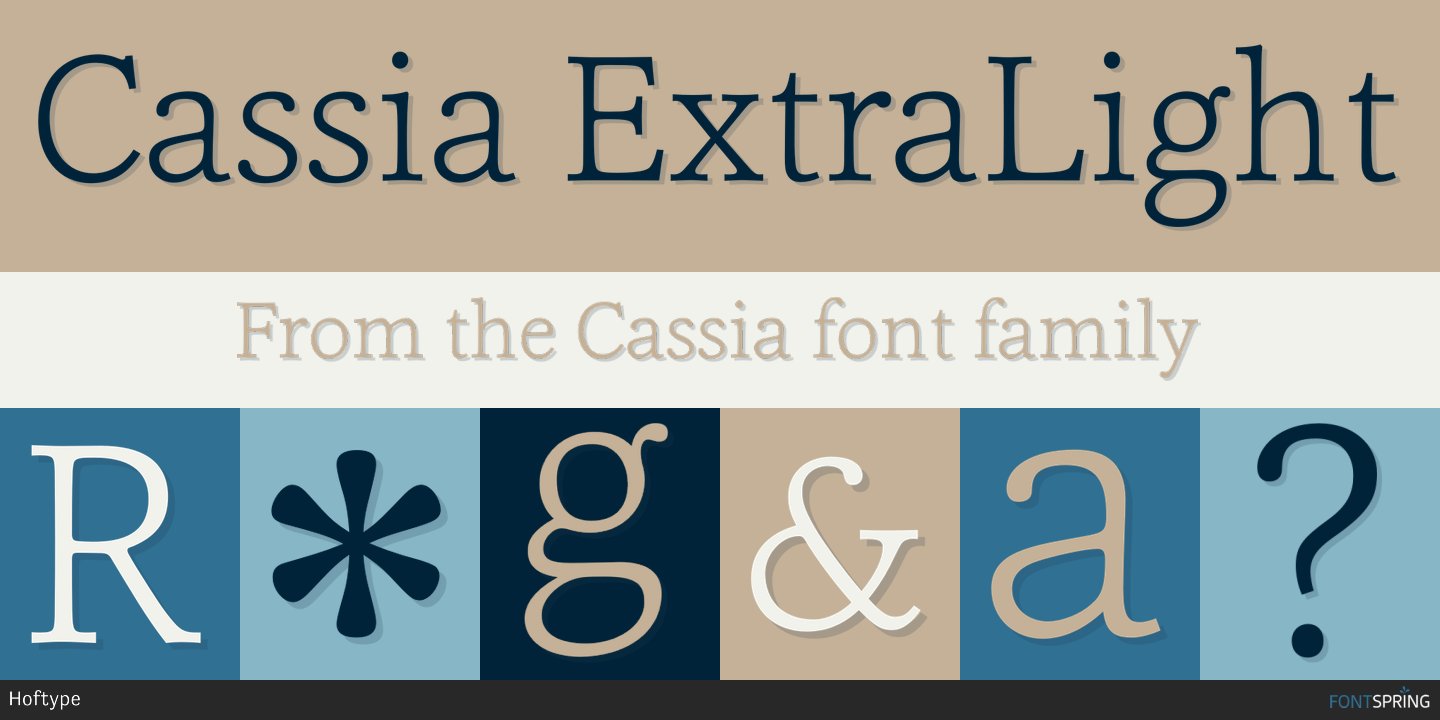 Fontspring | Similar Fonts To Cassia