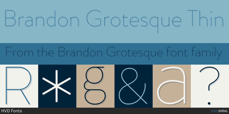 Fontspring | Similar Fonts To Brandon Grotesque