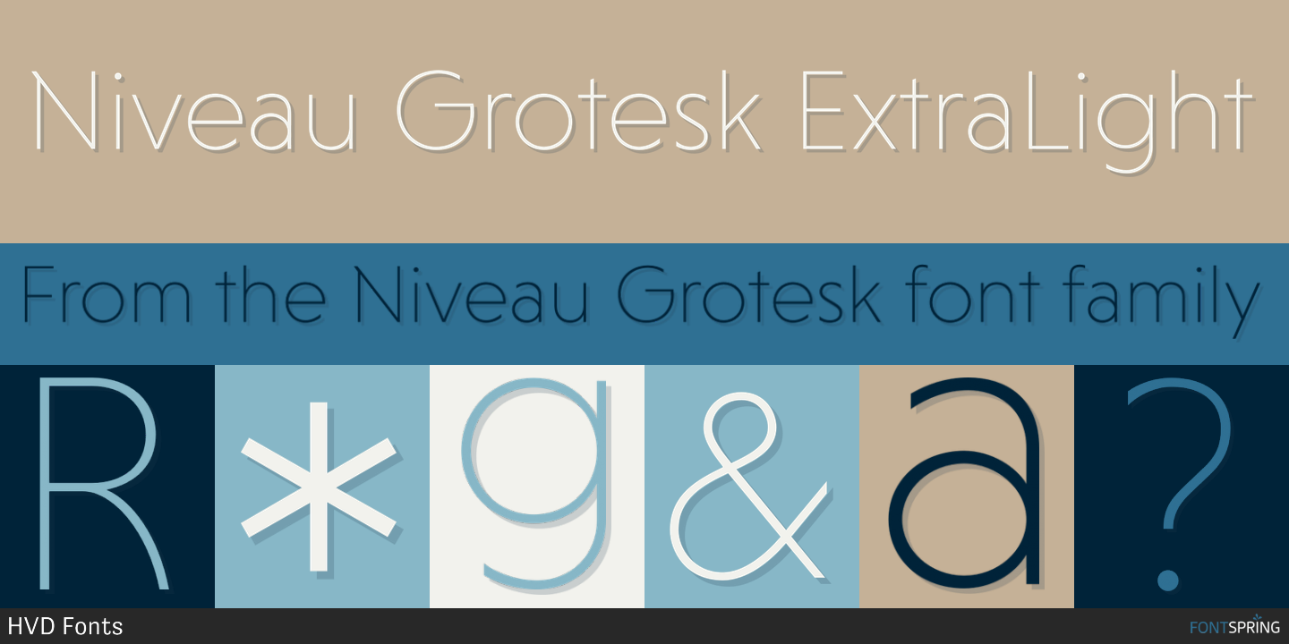 how to get niveau grotesk