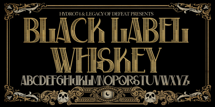 black label whiskey font by hydro74  u2022 fontspring