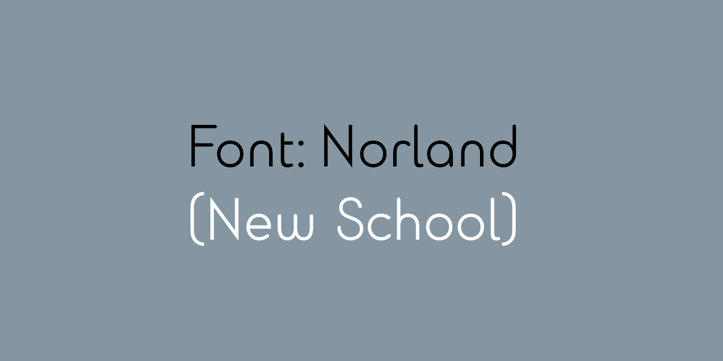 Norland Type Face - Title image