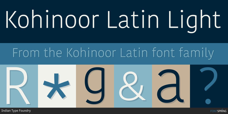 Fontspring | Similar Fonts To Kohinoor Latin
