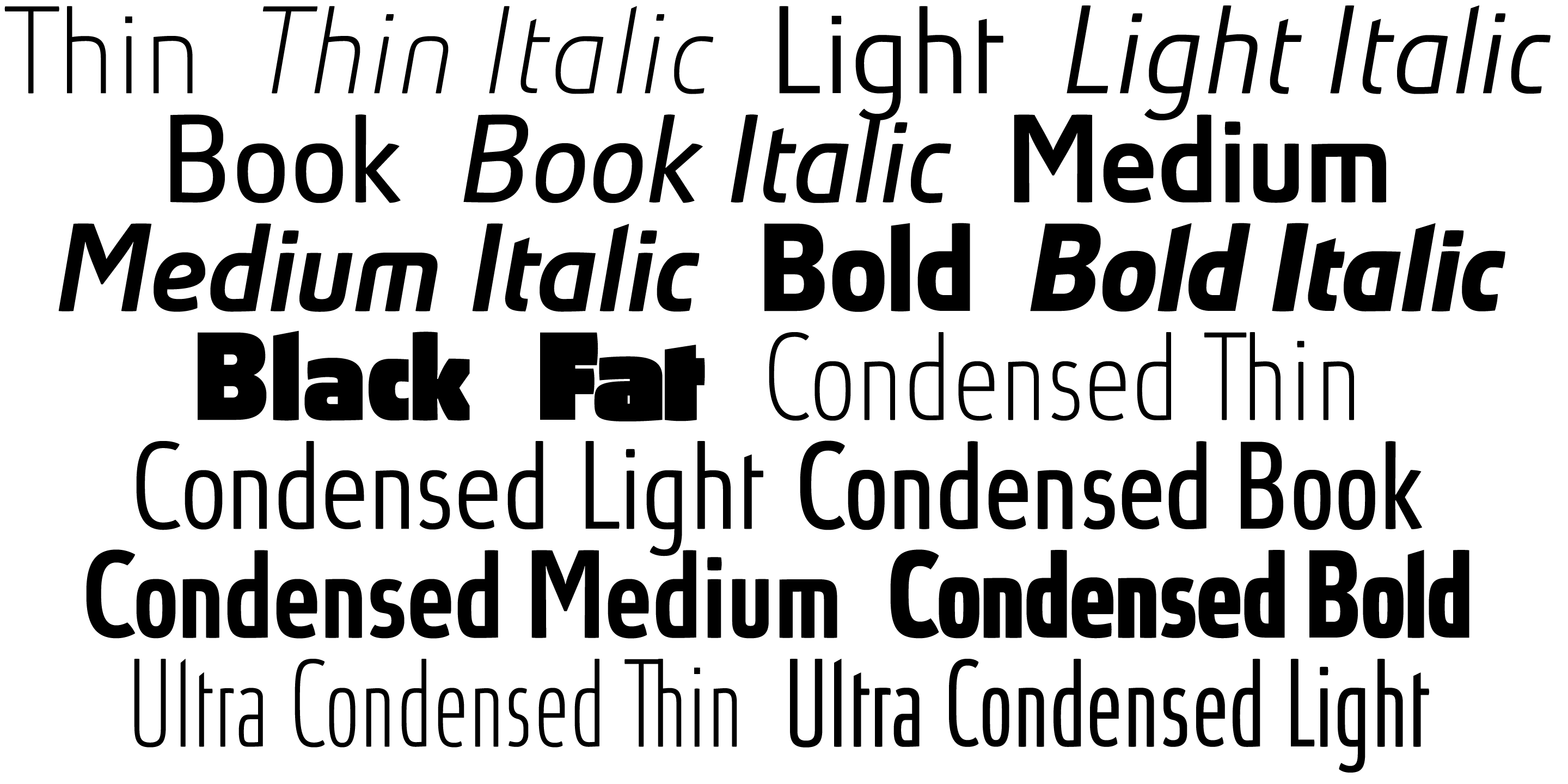 Absolut Pro font family - 8