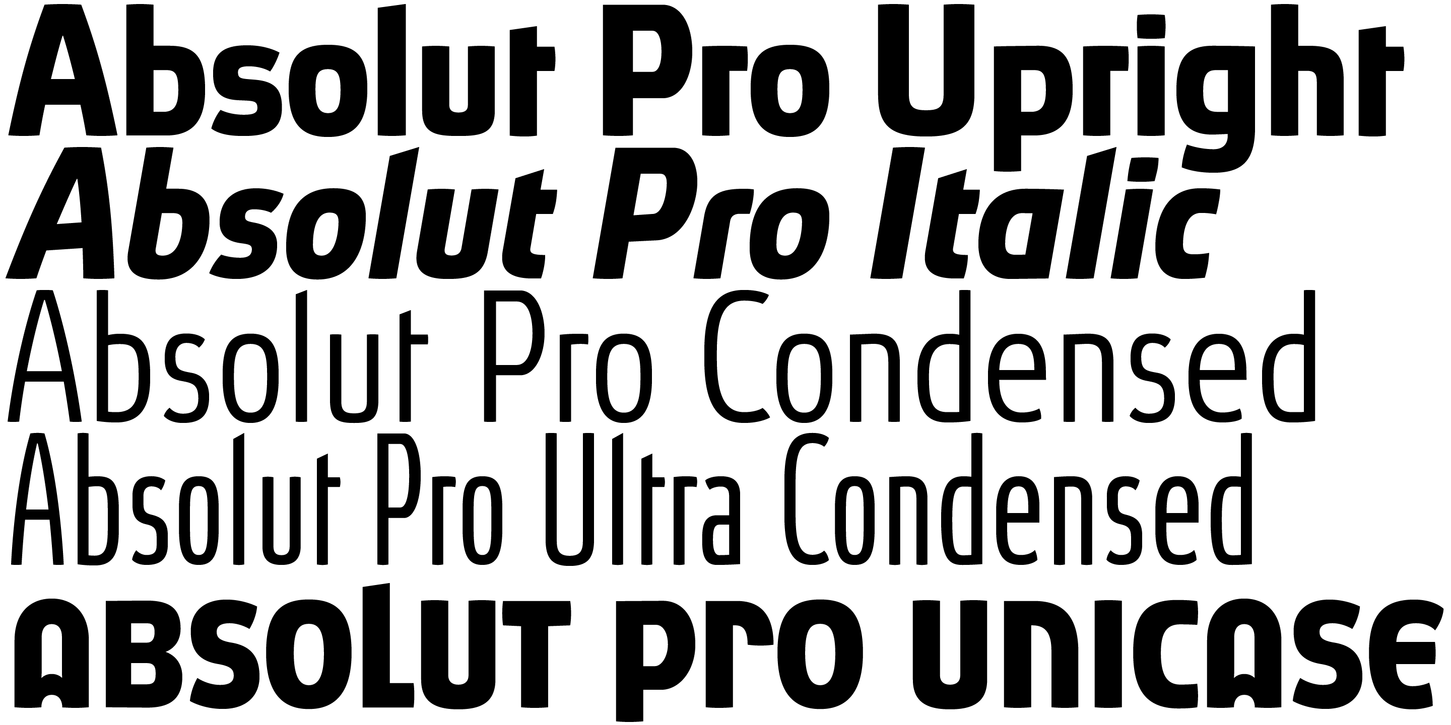 Absolut Pro font family - 5