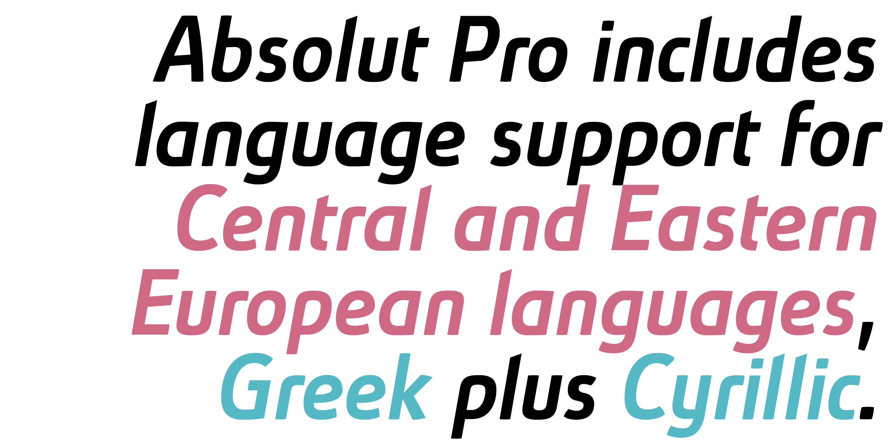 Absolut Pro font family - 15