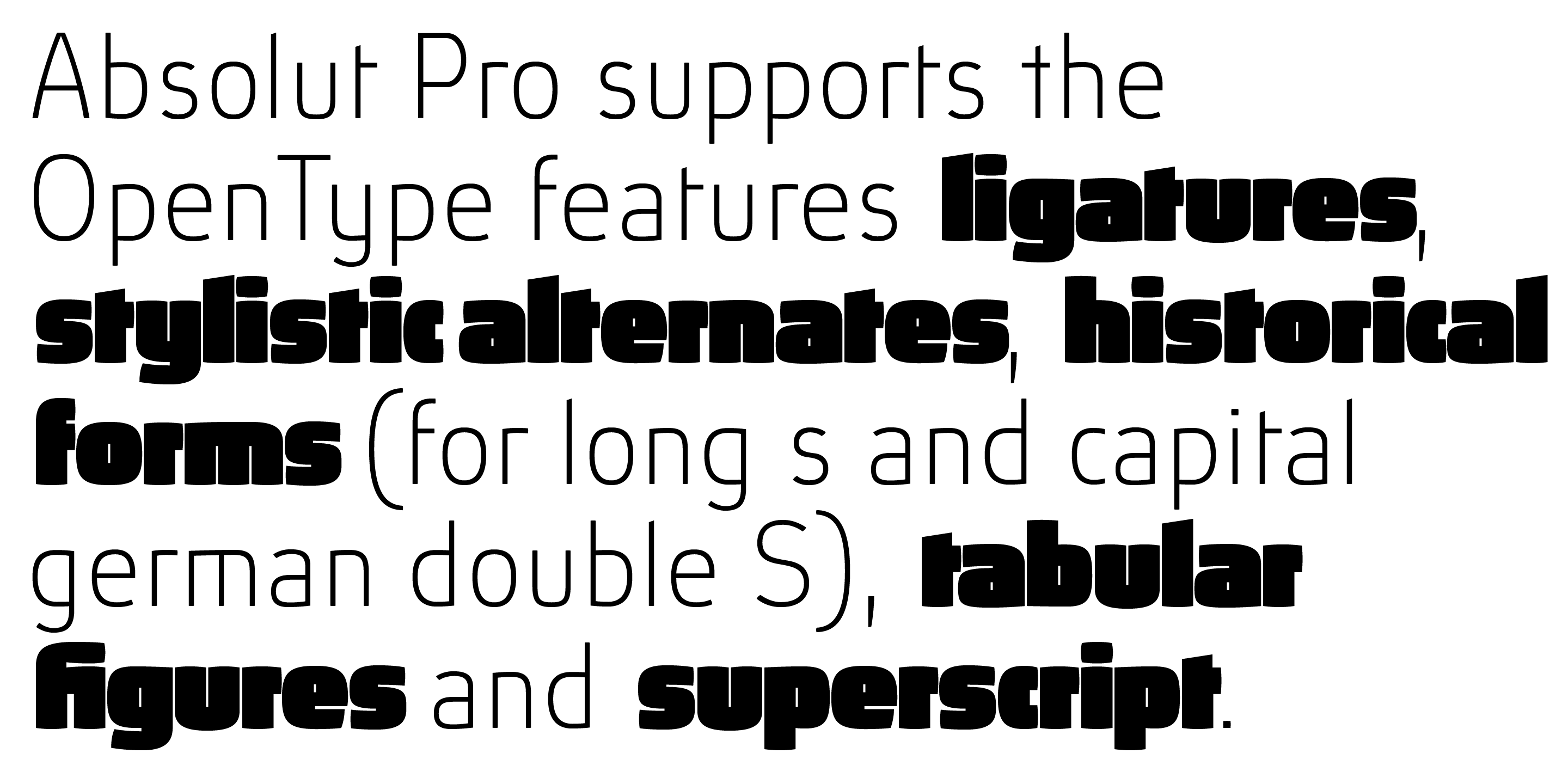 Absolut Pro font family - 16