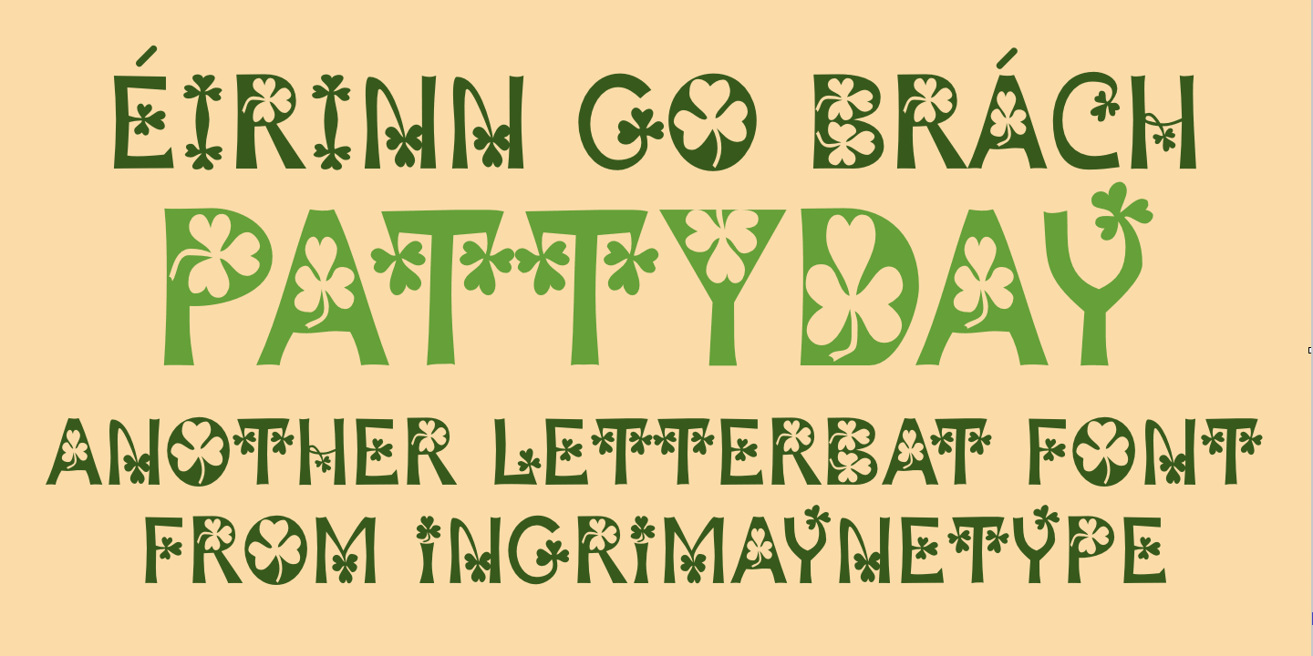 PattyDay font family