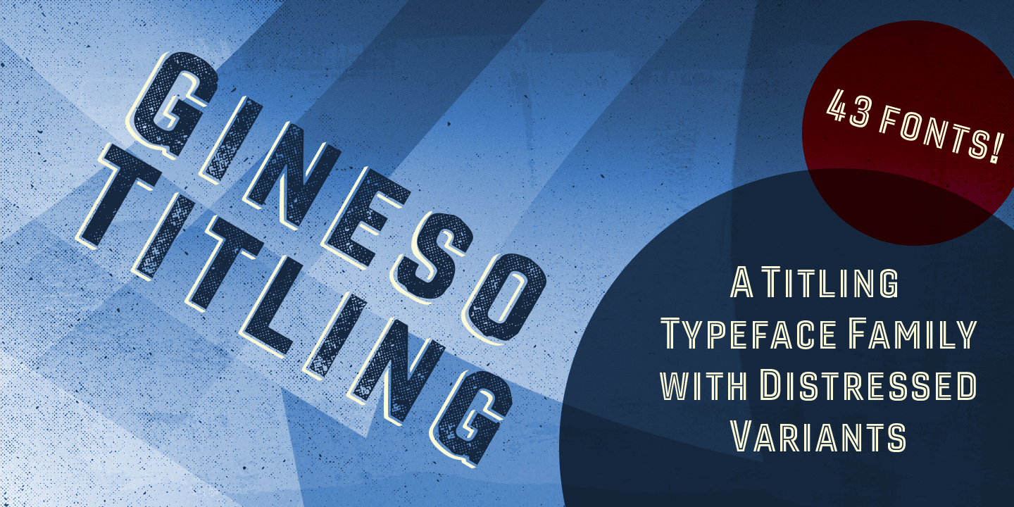 Gineso Titling font family