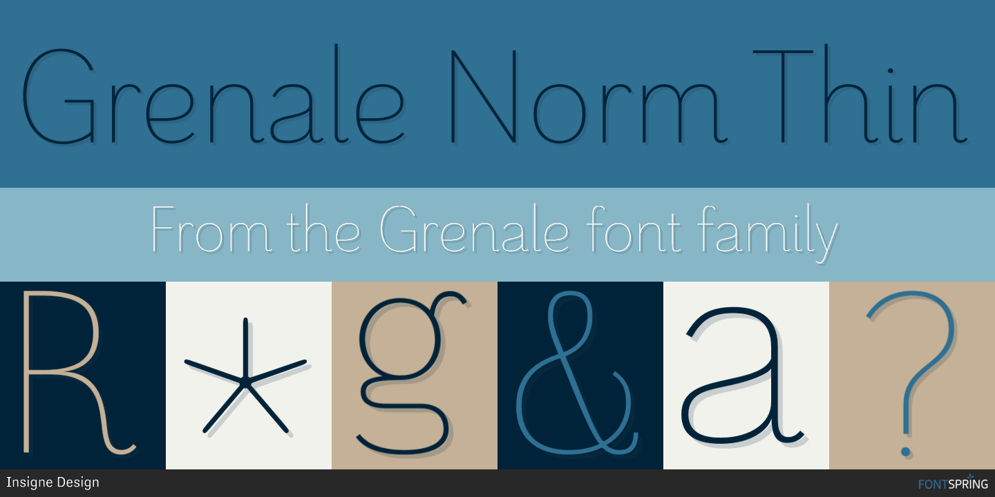 Fontspring | Similar Fonts To Grenale