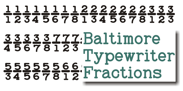 Baltimore Typewriter font family - 2
