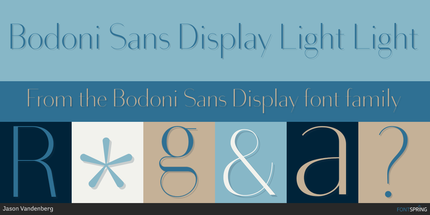 Fontspring | Similar Fonts To Bodoni Sans Display