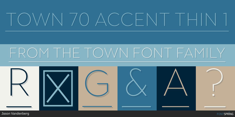 Fontspring | Town 70 Accent Fonts by Jason Vandenberg
