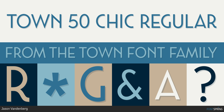Fontspring | Town 50 Chic Fonts by Jason Vandenberg