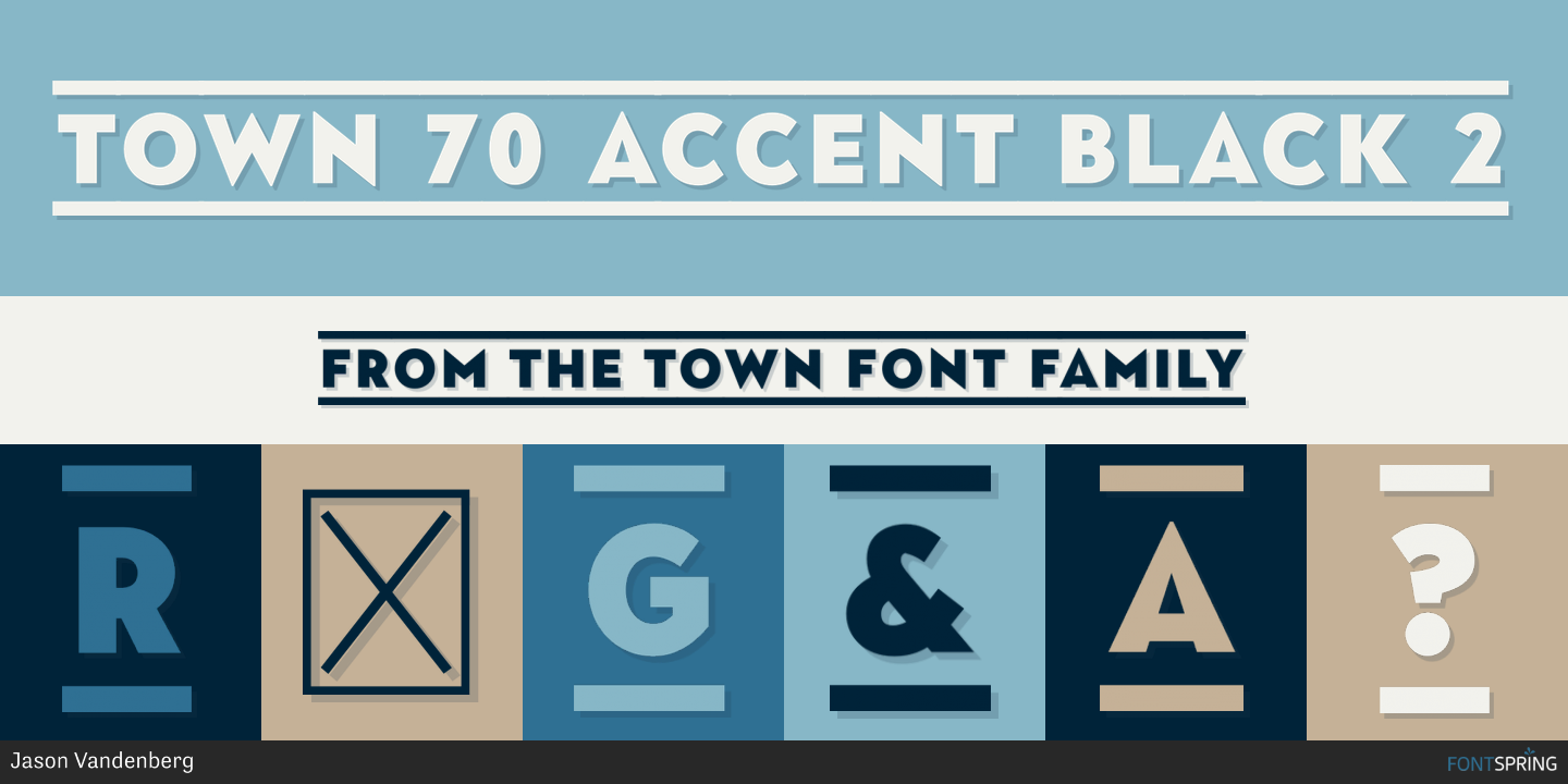 Fontspring | Town 70 Accent Fonts by Jason Vandenberg