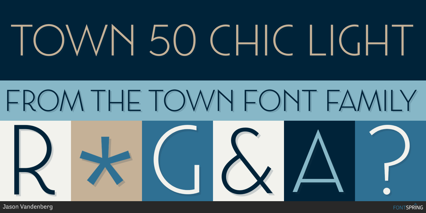 Fontspring | Town 50 Chic Fonts by Jason Vandenberg