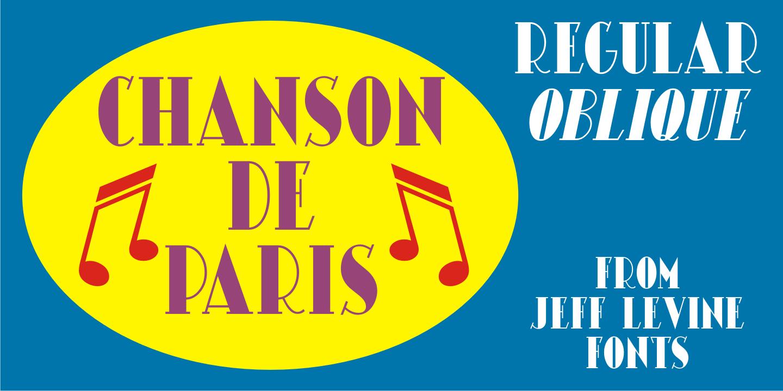 Fontspring | Chanson De Paris JNL Fonts by Jeff Levine Fonts