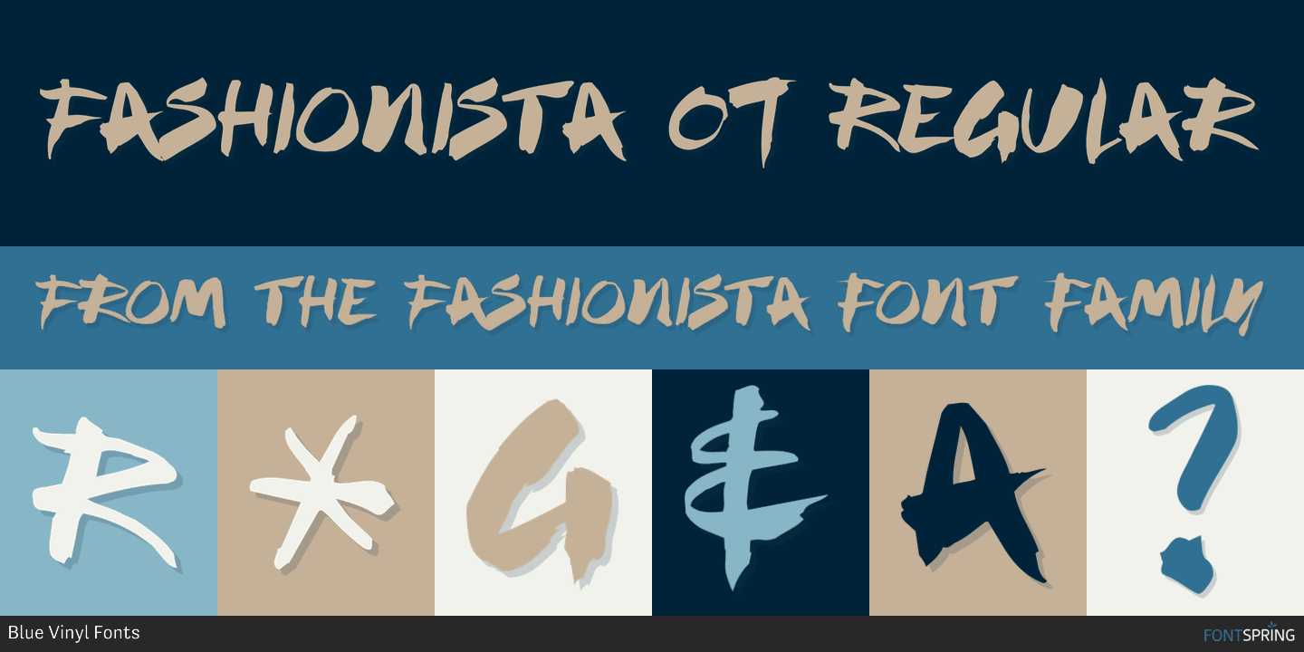 Fontspring Fashionista Font By Blue Vinyl Fonts