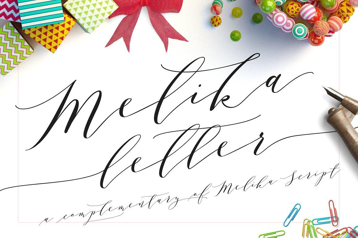 Fontspring | Melika Letter Font by Jrohcreative