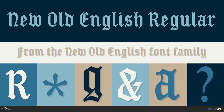 Fontspring | Similar Fonts To New Old English
