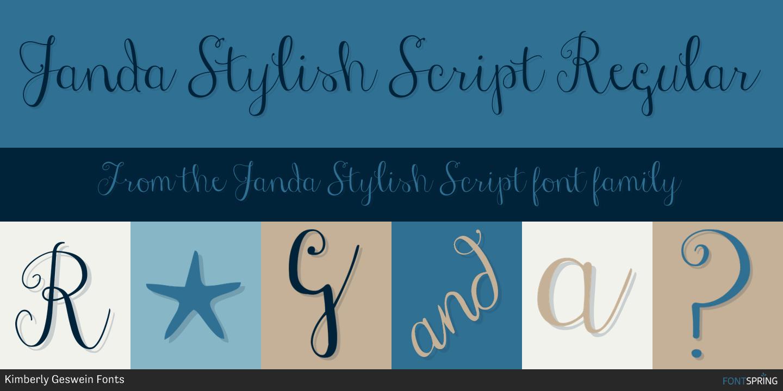 Similar Fonts To Janda Stylish Script Fontspring