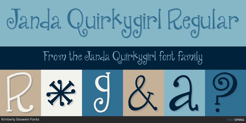 Similar Fonts To Janda Quirkygirl Fontspring