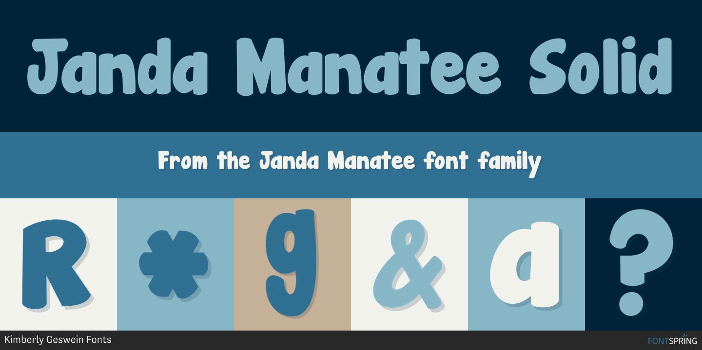 Similar Fonts To Janda Manatee Fontspring