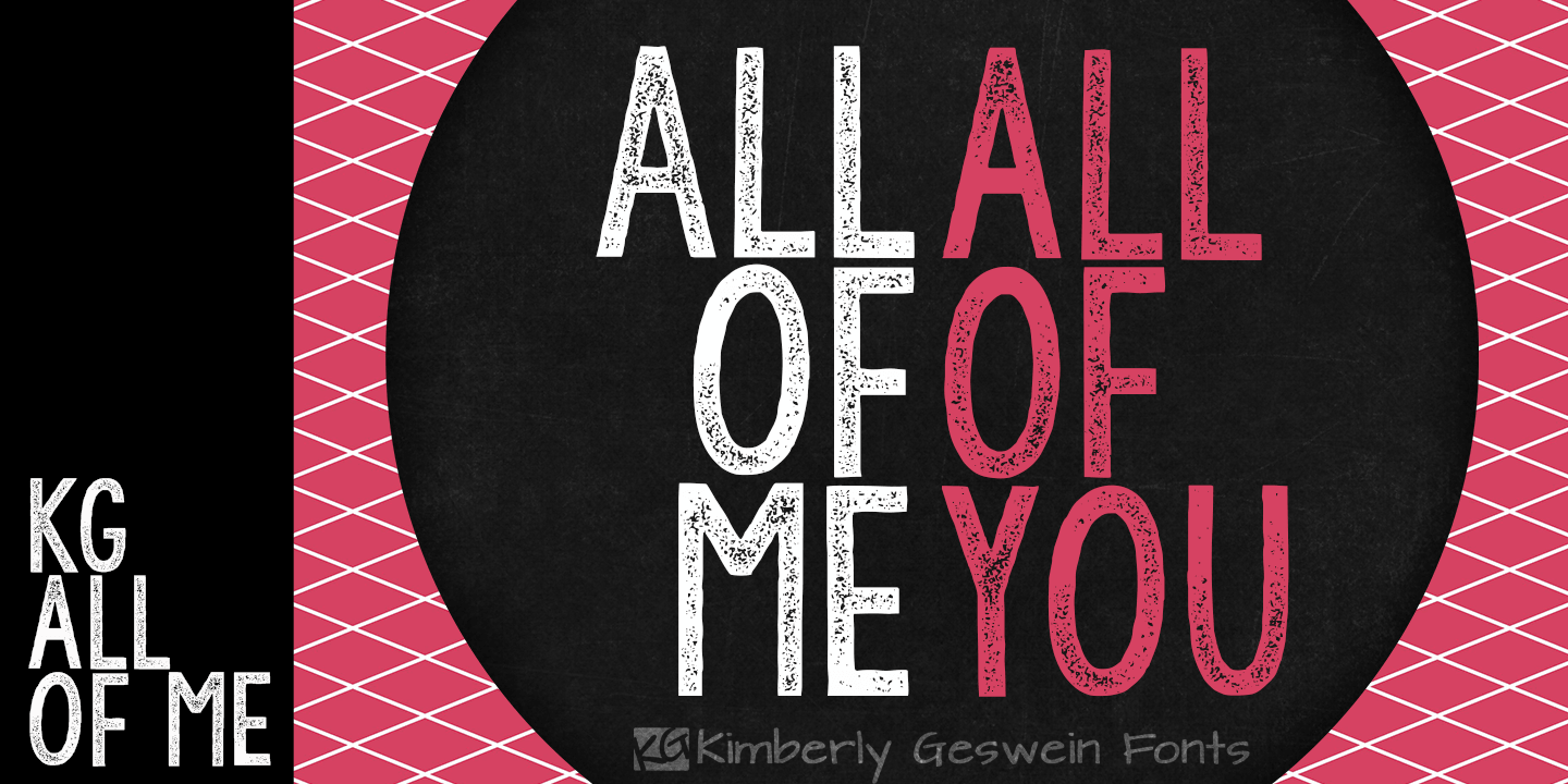 Fontspring | KG All of Me Font by Kimberly Geswein Fonts