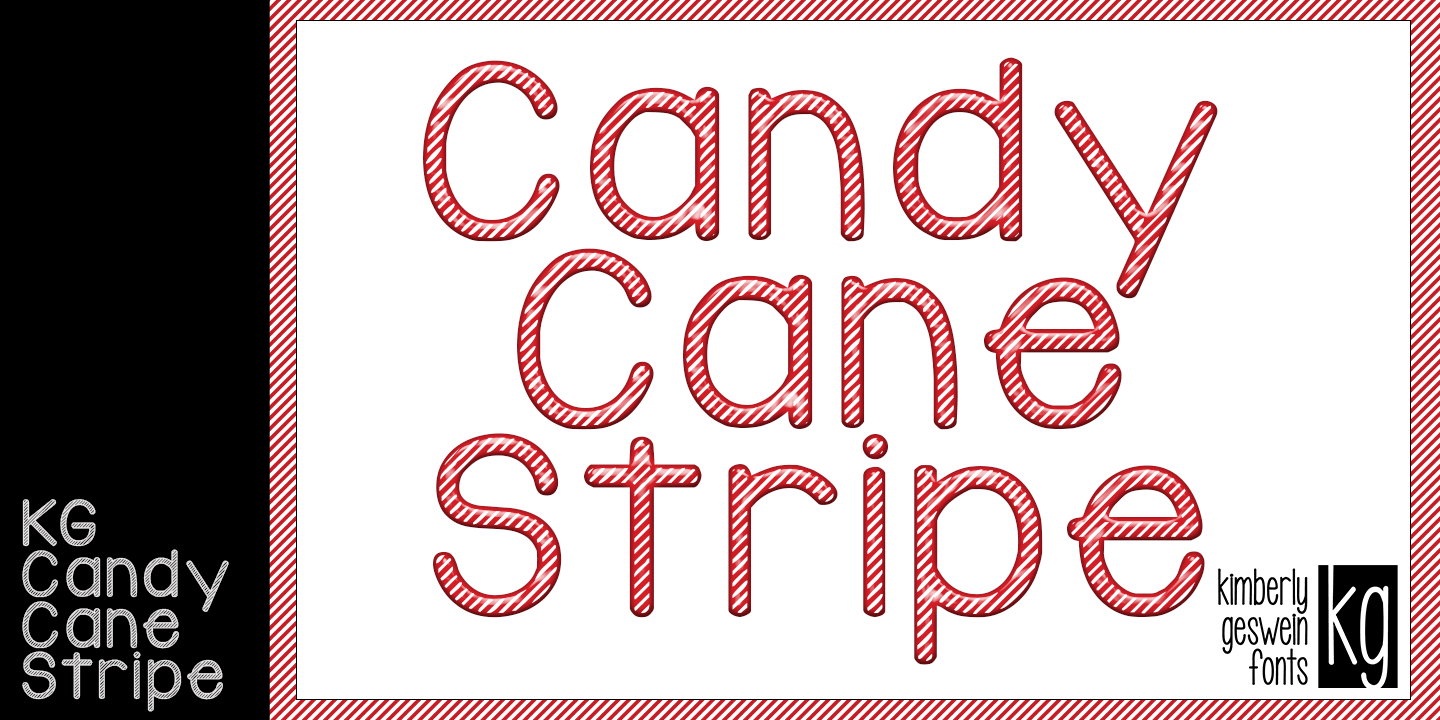KG Candy Cane Stripe font family