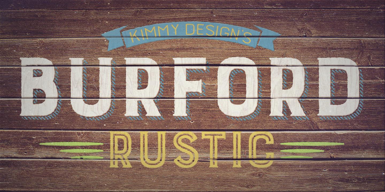 Fontspring Burford Rustic Fonts By Kimmy Design
