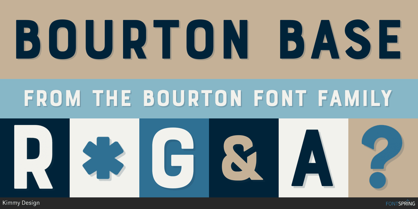 Fontspring | Similar Fonts To Bourton