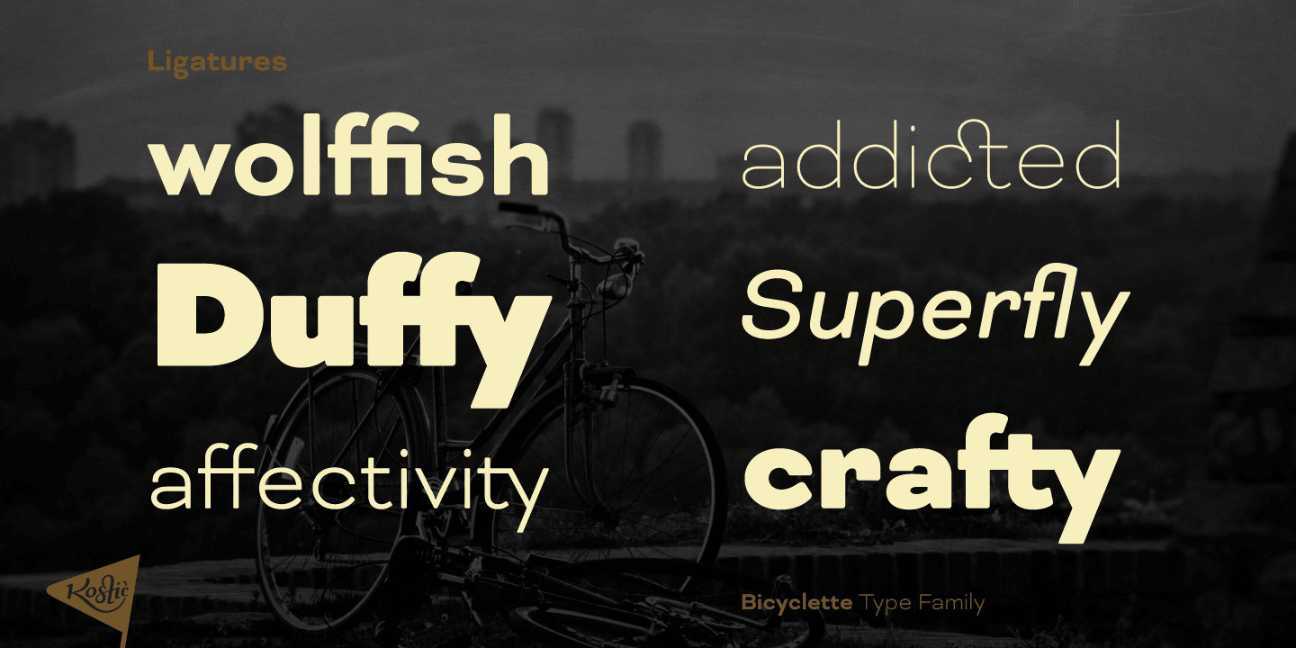 Bicyclette font family - 3