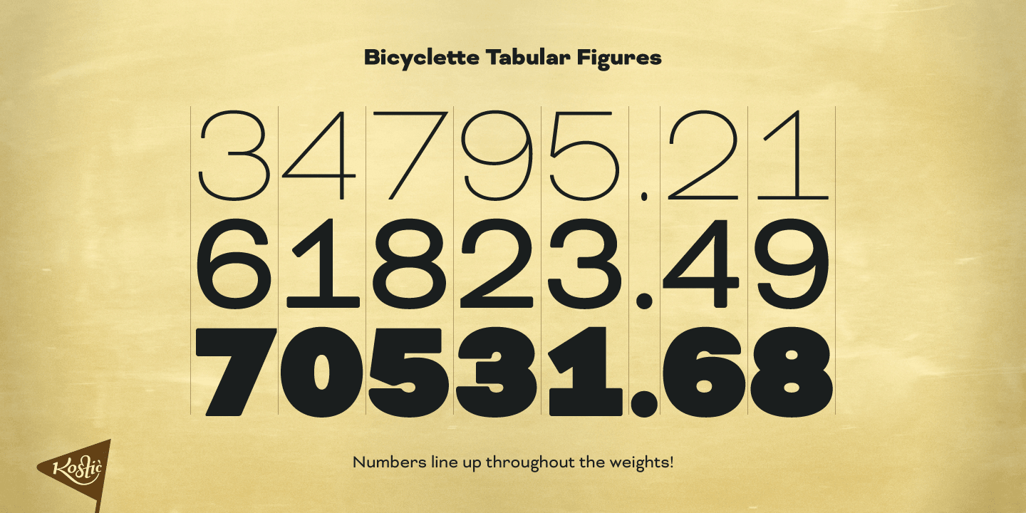Bicyclette font family - 4