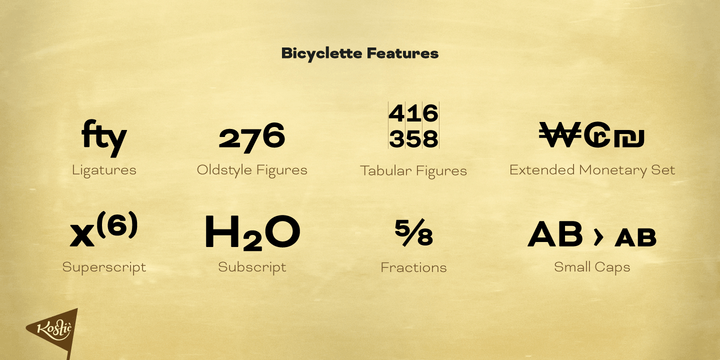 Bicyclette font family - 2