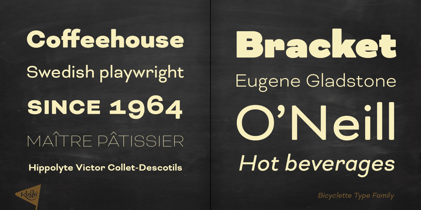 Bicyclette font family - 1