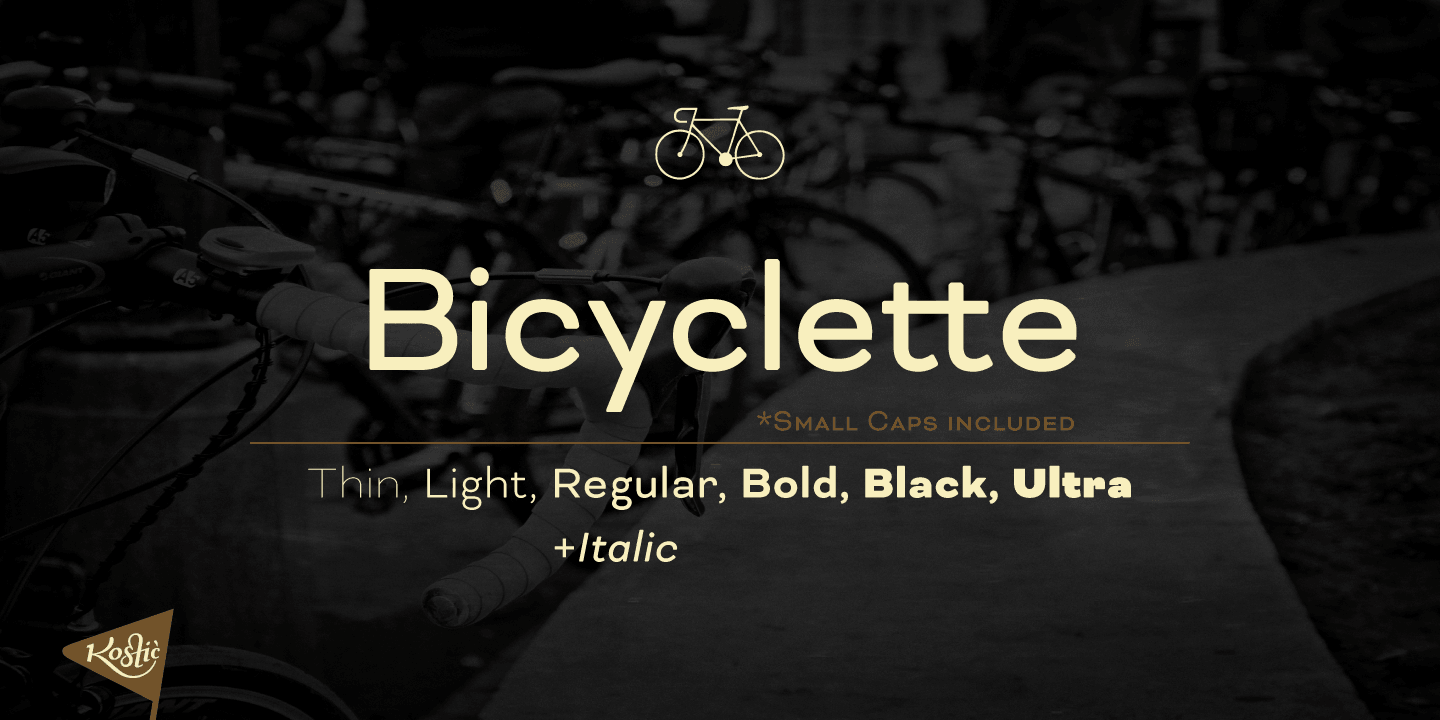 Bicyclette font family