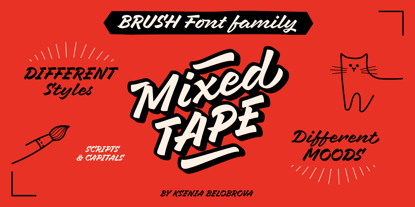 Mixed Tape font family